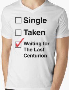 SINGLE TAKEN THE LAST CENTURION Mens V-Neck T-Shirt