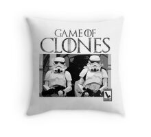 Game of Clones Throw Pillow