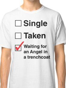SINGLE TAKEN ANGEL IN TRENCHCOAT Classic T-Shirt