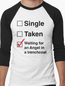 SINGLE TAKEN ANGEL IN TRENCHCOAT Men's Baseball ¾ T-Shirt