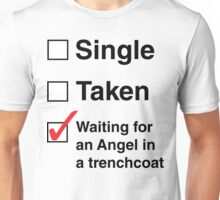 SINGLE TAKEN ANGEL IN TRENCHCOAT Unisex T-Shirt