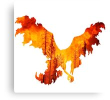 Moltres used heat wave Canvas Print
