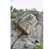 Imposing Rockface Photographic Print