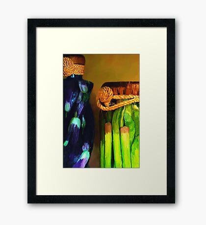 Vegetable Decor Framed Print