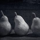 Three Pears by hankfrentzphoto