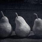 Three Pears by hankfrentzphoto