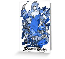 Shadow Realm Blue. Greeting Card