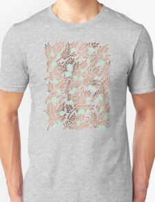 Olive Branches – Rose Gold & Mint T-Shirt