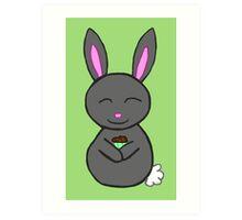 Bunny loves cupcakes Art Print