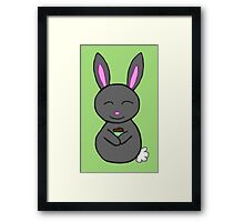 Bunny loves cupcakes Framed Print
