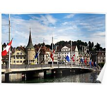 A day in Lucerne Poster