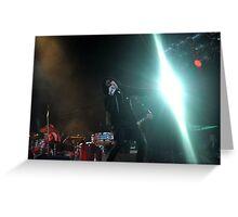 Chris Corner - IAMX - Live in Lvov Greeting Card
