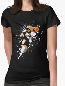 Bass/Forte Splattery Explosion Womens Fitted T-Shirt