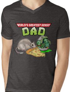 World's Greatest Sensei Dad Mens V-Neck T-Shirt