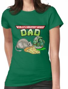 World's Greatest Sensei Dad Womens Fitted T-Shirt