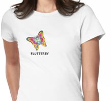 Flutterby design Womens Fitted T-Shirt