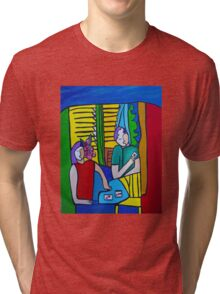 Queen of Hearts  ( ORIGINAL SOLD) Tri-blend T-Shirt