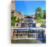 Rideau Canal Lockstations - UNESCO World Heritage Site Metal Print