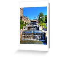 Rideau Canal Lockstations - UNESCO World Heritage Site Greeting Card