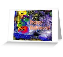 Happy Halloween Gimp Art Pumpkins Greeting Card