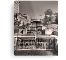 Rideau Canal Lockstations (BW) - UNESCO World Heritage Site Metal Print