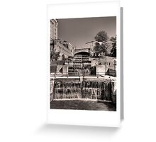 Rideau Canal Lockstations (BW) - UNESCO World Heritage Site Greeting Card