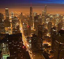 Sunset on downtown Chicago by Dominic Boudreault