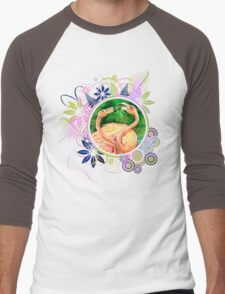Flamingos Men's Baseball ¾ T-Shirt