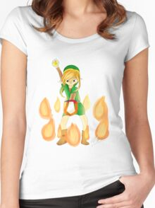 Bombos Medallion-- Blond Women's Fitted Scoop T-Shirt