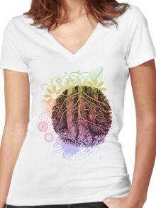 Family of trees Women's Fitted V-Neck T-Shirt