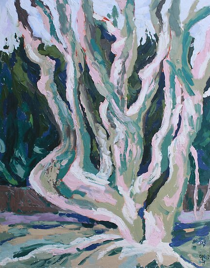 Trees in  Spring  by ochre67