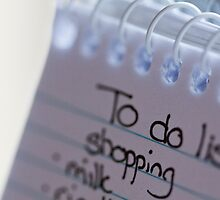 """""""to do"""" list by Hege Nolan"""