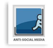 Anti-Social Media Canvas Print