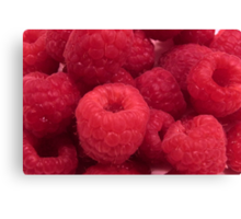 Delicious Red Raspberries Canvas Print
