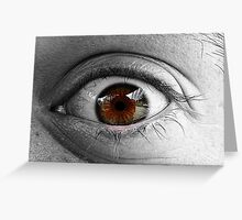 Reflection Of Lashes Greeting Card