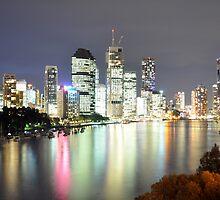 Brisbane City - Cityscape at Night by Jack McClane
