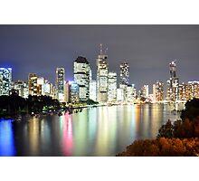Brisbane City - Cityscape at Night Photographic Print