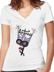 Antenna Head Women's Fitted V-Neck T-Shirt