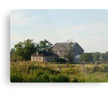 Country farm house and barn Metal Print