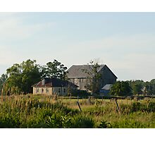 Country farm house and barn Photographic Print