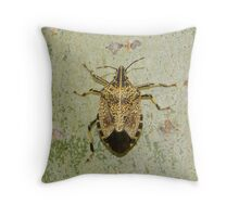 disabled bug  created pattren Throw Pillow