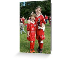 Trophy winners Greeting Card