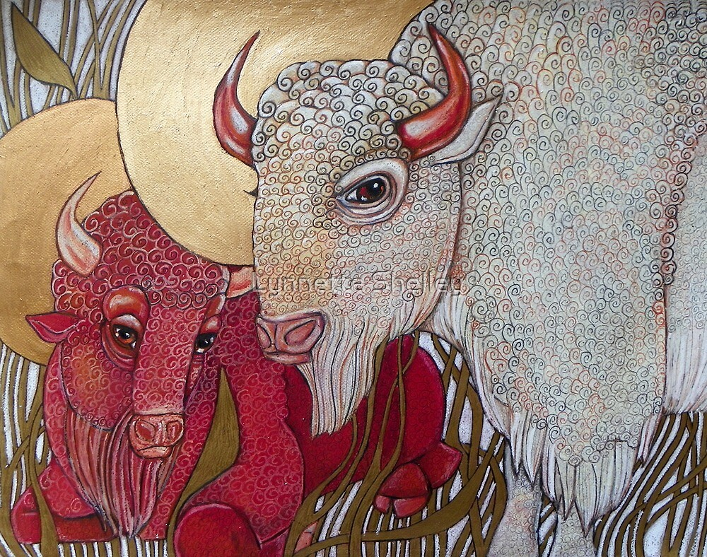 The White Buffalo (and the Red) by Lynnette Shelley