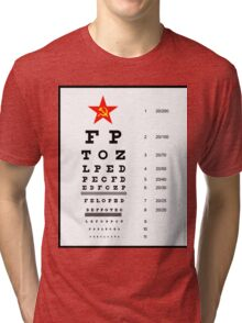 Campaign Memories: Sarah Palin's Eye Chart Tri-blend T-Shirt