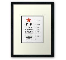 Campaign Memories: Sarah Palin's Eye Chart Framed Print