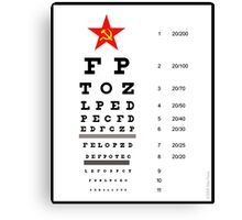 Campaign Memories: Sarah Palin's Eye Chart Canvas Print