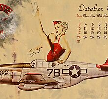 Aviation 1953 Vintage / Retro Pinup by cinemaphoto