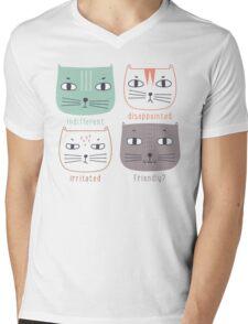 Faces of Cat  Mens V-Neck T-Shirt