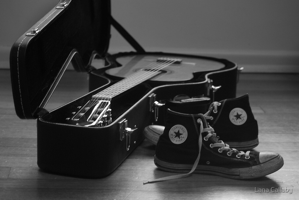 Guitar and Sneakers by Lana Callaby