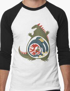 Monster Food Chain Men's Baseball ¾ T-Shirt
